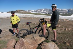 Two Montanan cyclist after a morning ride to the top of Beartooth Pass