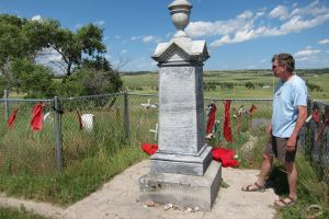Mark at the Wounded Knee Massacre Memorial