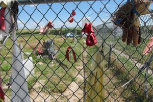 Offerings to the dead of Wounded Knee