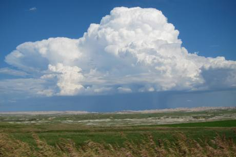 The cloud appeared as we left the rez